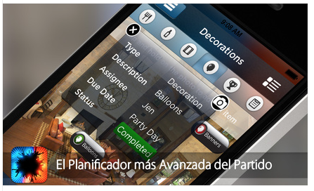 Pro Party Planner, app para organizar eventos