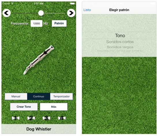Dog Whistler, una app de mascotas para iPhone