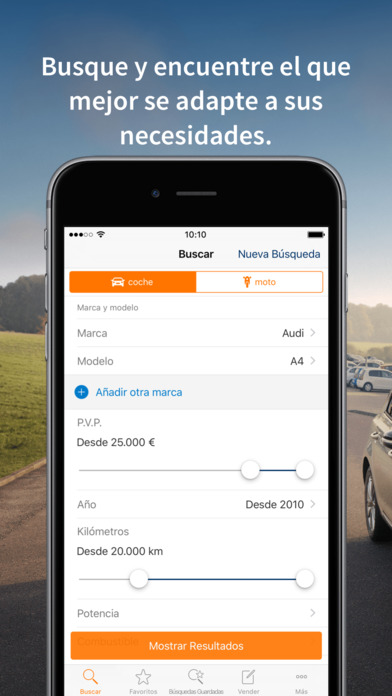 Autoscout24 app para iPhone