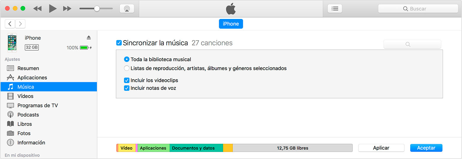 Cómo sincronizar tu iPhone o iPad con tu ordenador mediante iTunes